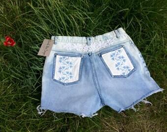 Cut Off Shorts, Handmade Custom Denim Shorts