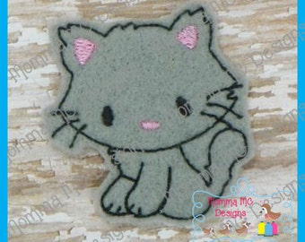 Kitty Cat Felt Feltie Embroidery Design