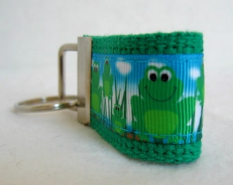 Small Frog Key Fob - Mini Frogs Key Chain - Frog Zipper Pull -  Frog Pond Keychain - Green Frog Key Chain