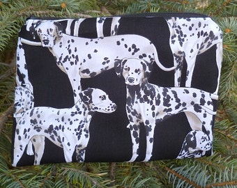 Dalmatians zip bag, make up bag, accessory bag, zippered pouch, The Scooter
