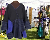 Meteor Shower Tunic in black and midnight blue