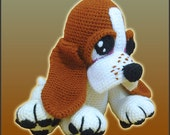 Amigurumi Pattern Crochet Boris Basset Hound Puppy Dog DIY Digital Instant Download PDF