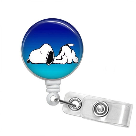 POOPED OUT SNOOPY Retractable Badge Reel