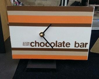 Chocolate bar postcard clock