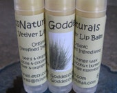 "12 ""Vetiver & Sweet Orange"" (GoddessNaturals) Lip Balms (comes w/display box) 0.15 oz tubes"