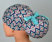 Scrub Hats // Scrub Caps // Scrub Hats for Women // The Hat Cottage // Ponytail // Tribal