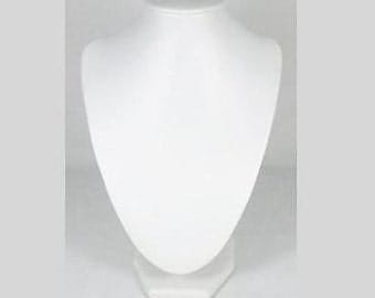 3 PC White Leather Look Extra Small Necklace Display-Q508x3
