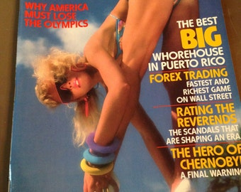 Vintage Penthouse Magazine August 1988