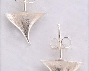 Silver Rose Thorn Stud Earrings Thorn Post Earrings