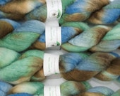 Handpainted Bluefaced Leicester Wool Roving in Galaxy by Blarney Yarn