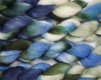 Handpainted Bluefaced Leicester Wool Roving in Santorini by Blarney Yarn