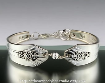 Silver Spoon Bracelet IMPERIAL Jewelry Vintage, Silverware, Gift, Anniversary, Wedding, Birthday