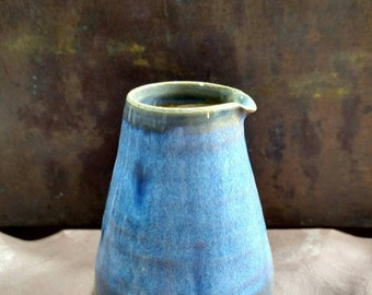 tiny blue pitcher - 2 3/4 inches tall