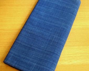 Japanese High-quality Cotton Solid Indigo Fabric (Light Blue)