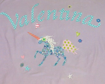 Personalized Baby Blanket in Color Lavender Unicorn, Baby Gift,Baby Shower Gift,Unicorn Baby Gift,Horse Baby Gift,Unicorn Gift,Unicorn