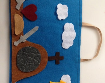 Felt Easter Advent Activity  Reusable