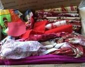 Fabric Destash no. 257 -- Box of Red Scraps