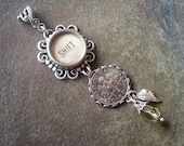 PEAR, a DIME, SHIFT - Antique Typewriter Key Pendant Necklace