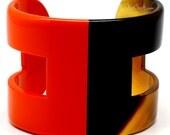 Horn & Lacquer Cuff Bracelet - Q6533-O