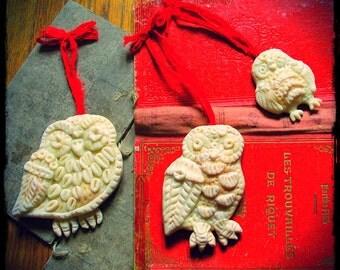 Owl Magic Ornaments Trio Christmas Yule custom order