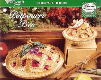 Potpourri Pies ~ plastic canvas pattern