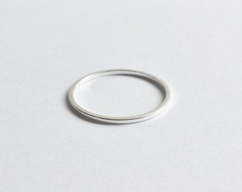 Custom Sterling Silver Minimalist Thin Stacking Ring