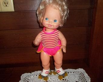 Vintage Baby Skates Doll