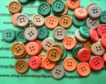 Darice - 2819-03 Wood Buttons - assorted colors - 18mm - matte finish - 100 pcs - 1 pkg