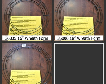 "Wire Wreath Forms - 16"", 18"", and 20"" sizes - green -1 pc"