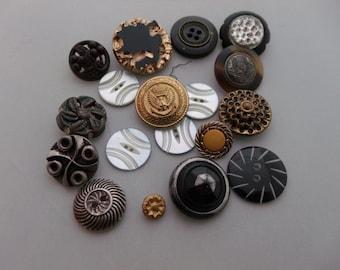 Vintage Antique Collectors buttons lot of 17