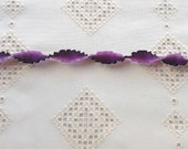 """Pleated French Ribbon Acetate Purple Ombré 1 meter long 7/8"""" wide #272"""