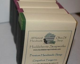Tangerine Grapefruit Olive Oil Shea  Butter Soap