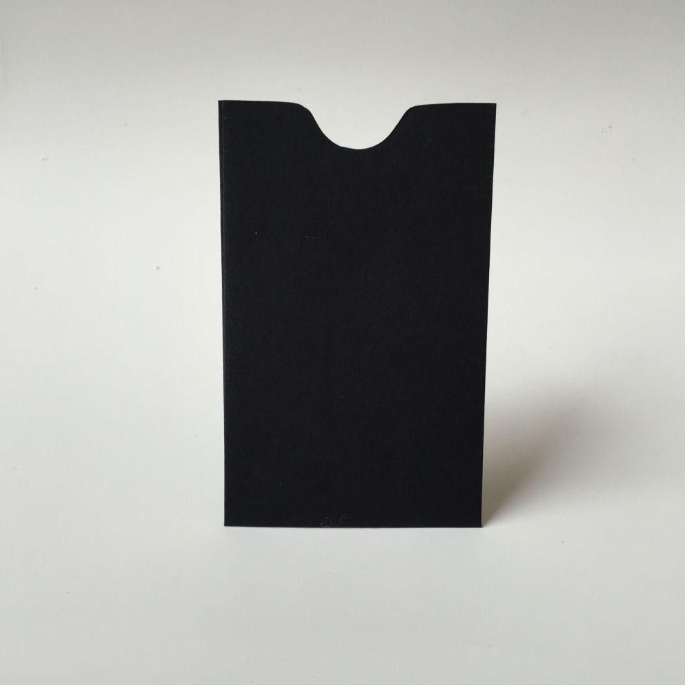 25 black mini envelopes business card holder gift description 25 black card sleeve magicingreecefo Images