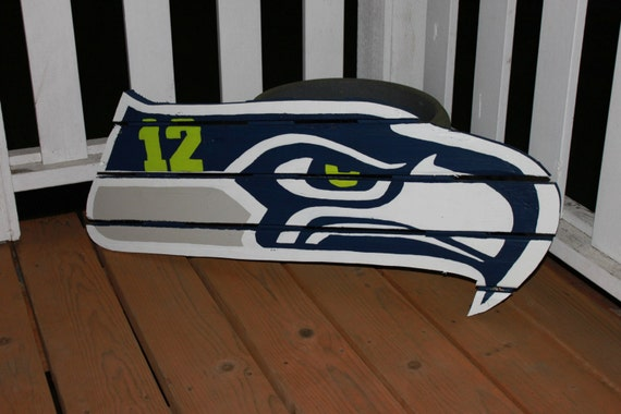 Seattle seahawks 12th man sign made from reclaimed lumber for Reclaimed fir flooring seattle