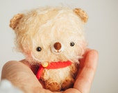Miniature teddy bear plushie toy in yellow  - mini Timu - ready to ship