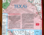 UPCYCLED Recycled Map of TEXAS Zipper Pouch