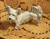 Skye Terrier Dog Porcelain Figurine Made in Austria by Augarten