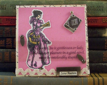 Jane Austen Quote Collage Art - Bibliophile Book Lover -  Literary  Collage - Jane Austen Mixed Media - Northanger Abby Quote