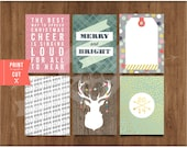 "3""x 4"" Printable Christmas Cheer Notes (2014) by Studio Pebbles"