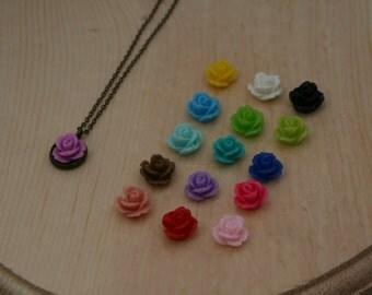 Little Rose Brass Necklace