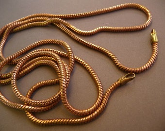 Snake Chain Necklace - Vintage Brass 33 inches