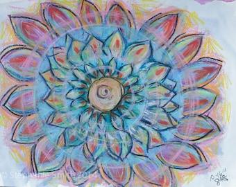Mandala: Original drawing Cycling Through