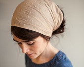 Cappuccino Swiss Spring Tour Headwrap | Garlands of Grace Headband headcovering hair wrap