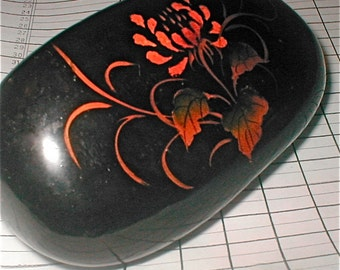 Lacquered Stone Paperweight - Office and Desk Paperweight - Asian Design