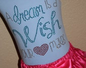 a DREAM is a WISH your HEART makes rhinestud tee by Daisy Creek Designs