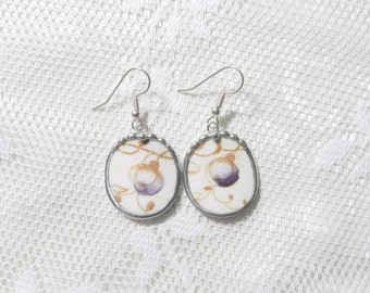 Broken China Jewelry Earrings