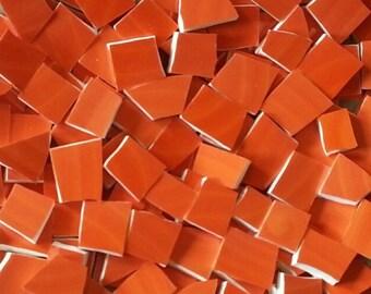 Mosaic Tiles-International Orange -100 Tiles