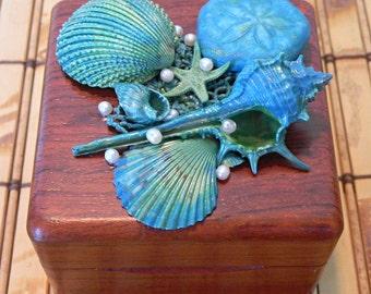Small Wood Jewelry Box, Ring Box, Gift Box