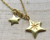 The Radiant Star Necklace- Gold Over Bronze