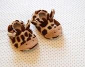 Cute giraffe baby booties